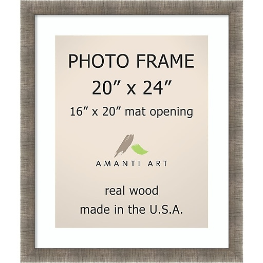 Silver Leaf Photo Frame Matted to 16x20 23 x 27-inch (DSW1396536 ...