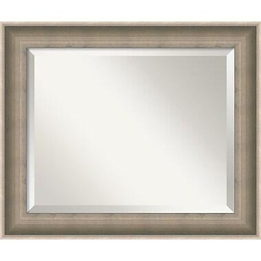 Amanti Art Silver Solitaire Wall Mirror, Medium, 25