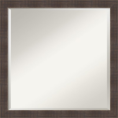 Amanti Art Whiskey Brown Rustic Wall Mirror - Square 22
