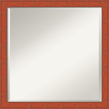 Amanti Art Bourbon Orange Rustic Wall Mirror, Square, 22