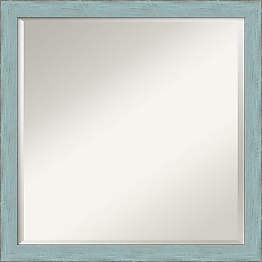 Amanti Art Sky Blue Rustic Wall Mirror, Square, 22