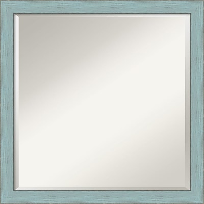 Amanti Art Sky Blue Rustic Wall Mirror - Square 22
