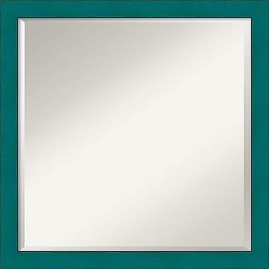 Amanti Art French Teal Rustic Wall Mirror, Square, 22