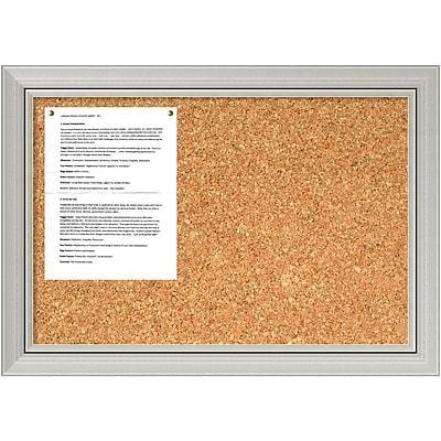 Romano Silver Cork Board - Medium Message Board 28 x 20-inch (DSW1418331)