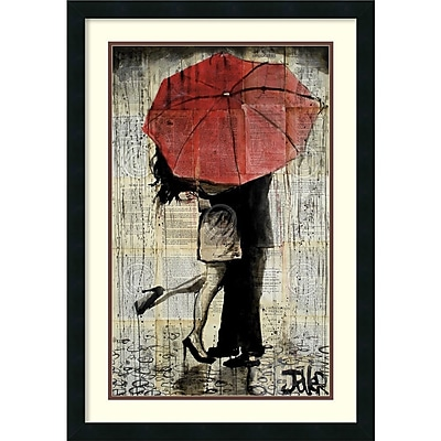 Loui Jover 'The Red Umbrella' Framed Art Print 21