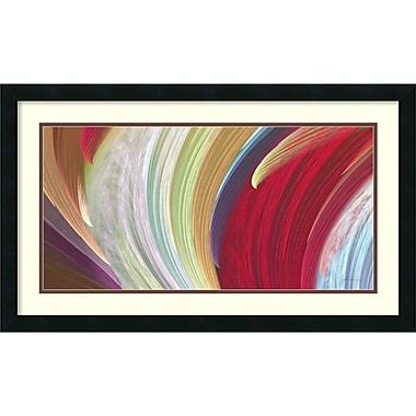 Amanti Art ? Impression encadrée « Vagues tournoyantes » par James Burghardt, 30 x 18 po (DSW1421311)