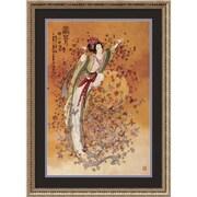 """Chinese 'Goddess of Wealth' Framed Art Print 22"""" x 30"""" (DSW1386884)"""