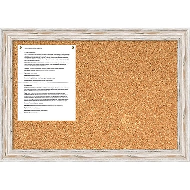 Alexandria Whitewash Cork Board, Medium Message Board 27 x 19
