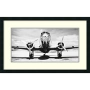 "Philip Gendreau 'Passenger Airplane on Runway' Framed Art Print 32"" x 20"" (DSW1418692)"