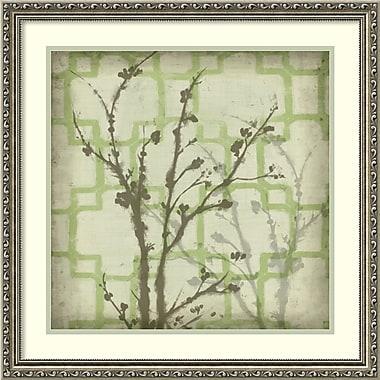 Amanti Art ? Impression encadrée « Silhouette et motif IV » par Jennifer Goldberger, 24 x 24 po (DSW1421315)