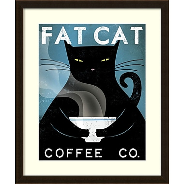 Amanti Art Ryan Fowler Cat Coffee Framed Art Print, 23