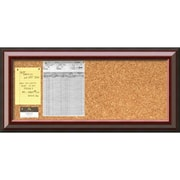 Cambridge Mahogany Cork Board, Panel Message Board 34 x 16 inch (DSW2967402) by