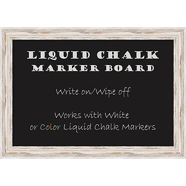 Alexandria Whitewash Liquid Chalk Marker Board, Medium Message Board, 27