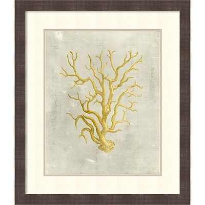 Vision Studio 'Coral in Mustard' Framed Art Print 24