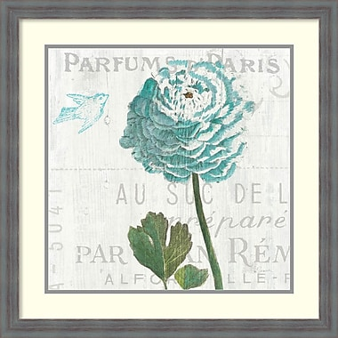 Amanti Art Sue Schlabach Floral Messages on Wood II Blue Framed Art Print, 26