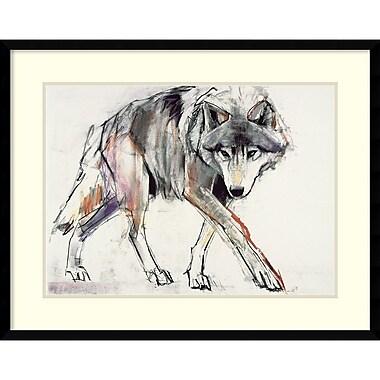 Amanti Art ? Impression encadrée « Wolf » par Mark Adlington, 29 x 23 po (DSW2972456)