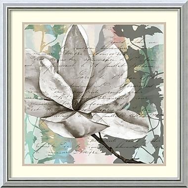 Amanti Art ? Impression encadrée « Pastel Magnolias II » par Jennifer Goldberger, 24 x 24 po (DSW2972594)