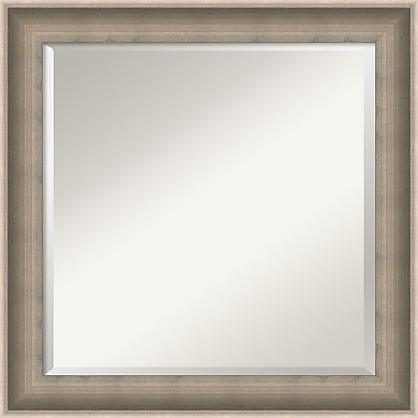 Amanti Art Silver Solitaire Wall Mirror, Square, 25