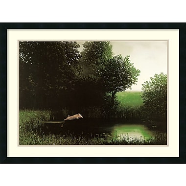 Amanti Art Michael Sowa Diving Pig Framed Art Print, 34
