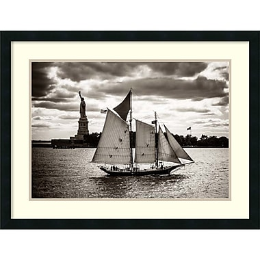 Amanti Art John Brooknam The Clipper & the Liberty Framed Art Print, 30