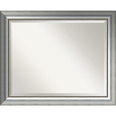 Amanti Art Vegas Burnished Silver Wall Mirror - Large 33