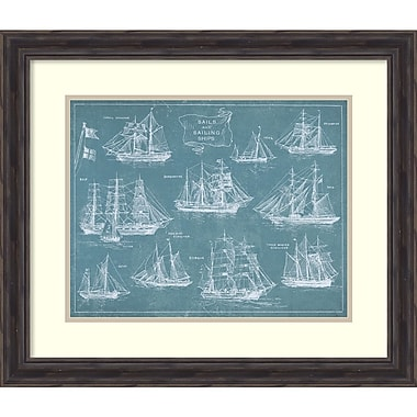Amanti Art Wild Apple Portfolio Sailing Ships Framed Art Print, 28