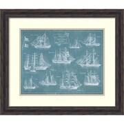 "Wild Apple Portfolio 'Sailing Ships' Framed Art Print 28"" x 24"" (DSW1421142)"