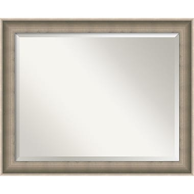 Amanti Art Silver Solitaire Wall Mirror, Large, 33