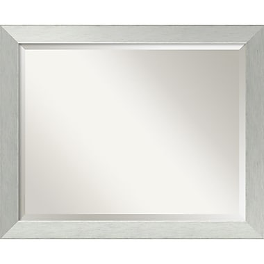 Amanti Art Brushed Sterling Wall Mirror, Large, 32