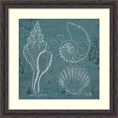Marco Fabiano 'Coastal Blueprint I' Framed Art Print 28
