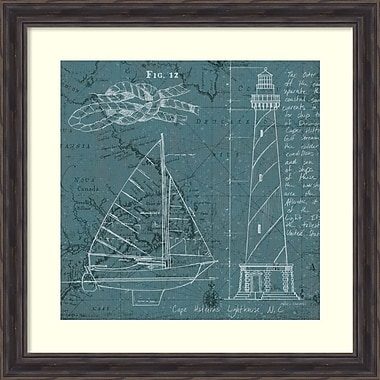 Amanti Art Marco Fabiano Coastal Blueprint III Framed Art Print, 28