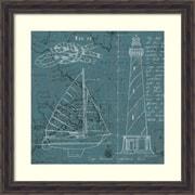 """Marco Fabiano 'Coastal Blueprint III' Framed Art Print 28"""" x 28"""" (DSW1421205)"""
