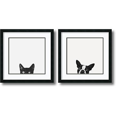 Amanti Art ? Impression encadrée « Curiosité et loyauté » par Jon Bertelli, 22 x 22 po, 2/paquet (DSW1385986)