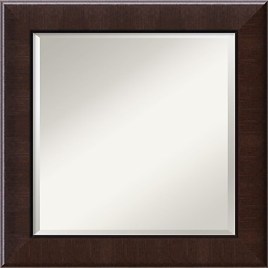 Amanti Art Dark Umber Wall Mirror, Square, 26