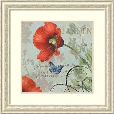 Impression encadrée « Jardin » par Aimee Wilson, 28 x 28 po (DSW1408597)