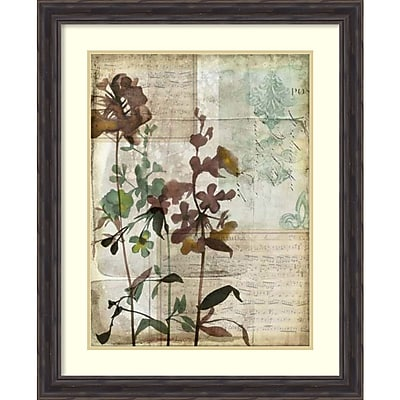 Jennifer Goldberger 'Music Box Floral I' Framed Art Print 27