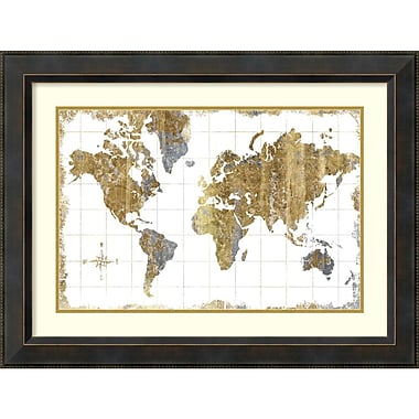 Michael Mullan 'Gilded Map' Framed Art Print 32