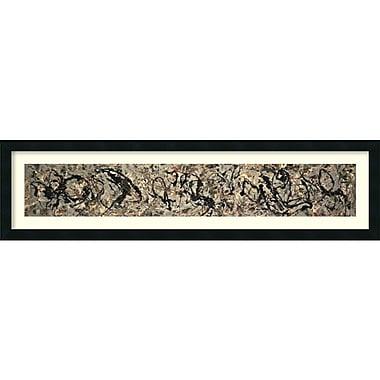Amanti Art ? Impression encadrée « Number 10, 1949 » par Jackson Pollock, 42 x 11 po (DSW1385082)