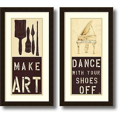Amanti Art ? Impression encadrée « Dance and Make Art » par Kelsey Hochstatter, 14 x 26 po, 2/paquet (DSW1385981)