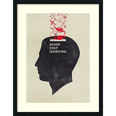 Amanti Art Hannes Beer Never Stop Learning Framed Art Print, 28