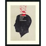 """Hannes Beer 'Never Stop Learning' Framed Art Print 28"""" x 36"""" (DSW1420358)"""