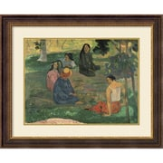 "Paul Gauguin 'The Talk, 1891' Framed Art Print 35"" x 29"" (DSW1385050)"