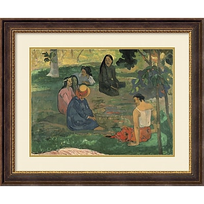 Paul Gauguin 'The Talk, 1891' Framed Art Print 35