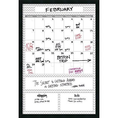 Mezzanotte Gray Chevron Big Dry-Erase Calendar 26