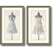 "Leila 'Tres Jolie and Elegante- set of 2' Framed Art Print 19"" x 31"" Each (DSW1385982)"