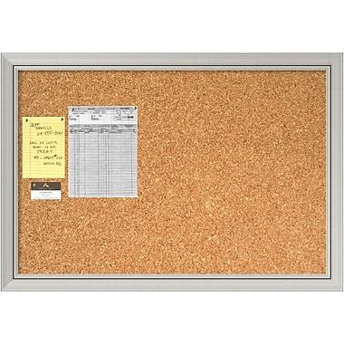 Amanti Art ? Tableau en liège pour messages, argenté Romano, grand, 40 x 28 po (DSW1418337)