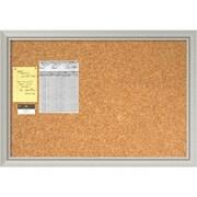 Romano Silver Cork Board - Large Message Board 40 x 28-inch (DSW1418337)