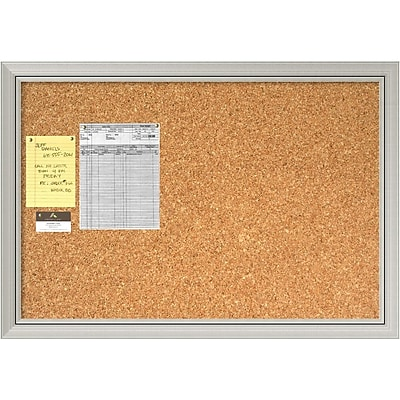 Romano Silver Cork Board - Large Message Board 40 x 28-inch (DSW1418337)