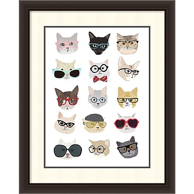 Hanna Melin 'Cats with Glasses' Framed Art Print 30