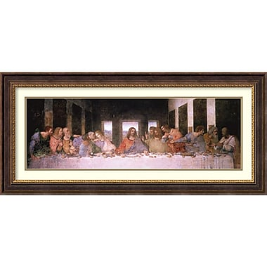 Amanti Art Leonardo da Vinci The Last Supper Framed Art Print, 45